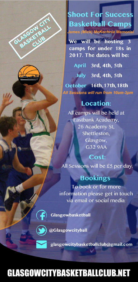 Glasgow City Basketball Shoot For Success Camp 2017